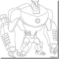 Armodrillo Desenhos para colorir e pintar Ben 10 Supremacia Alienígena