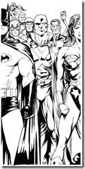 Desenhos pra colorir da Liga da Justiça aquaman  super amigos JLAcoverjam21200