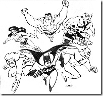 Desenhos pra colorir da Liga da Justiça aquaman  super amigos Justice_League_Cover_by_LostonWallace