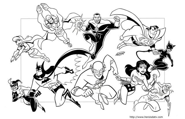 Desenhos pra colorir da liga da justi a desenhos para - Dessin de super hero ...