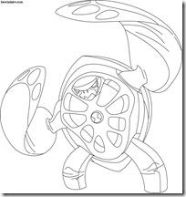 Terraspin tartagira Desenhos para colorir e pintar Ben 10 Supremacia Alienígena