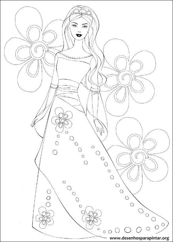 Desenhos Para Colorir E Pintar Da Barbie Sereia Noiva