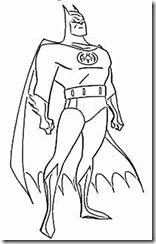 Desenhos pra colorir da Liga da Justiça batman