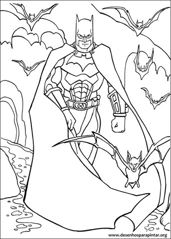 Desenhos Para Colorir E Pintar Do Batman Desenhos Para Pintar E