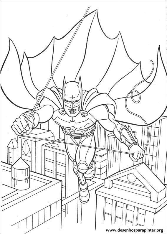 Desenhos Para Colorir E Pintar Do Batman Desenhos Para