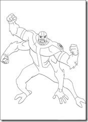 desenho para colorir ben 10 quatro braços