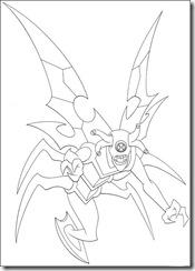 desenho para colorir ben 10 insectoide