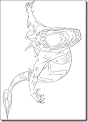 desenho para colorir ben 10 aquatico