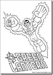 Desenhos pra colorir da Liga da Justiça lanterna verde dc-comics-04