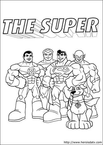 Desenhos pra colorir da Liga da Justiça – Desenhos para pintar e colorir