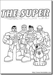 Desenhos pra colorir da Liga da Justiça super amigos lanterna verde super homem  aquaman flash dc-comics-09