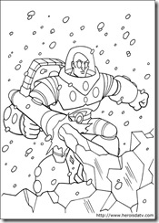 Desenhos pra colorir da Liga da Justiça dr gelo dc-comics-14