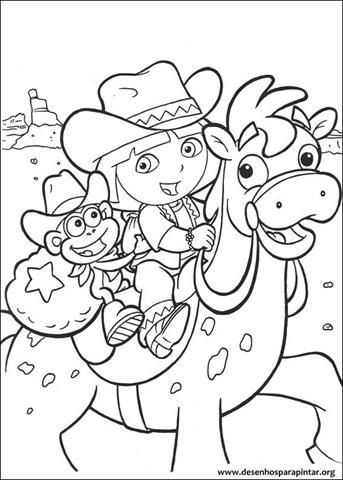 Desenhos Para Colorir E Pintar Da Dora Aventureira