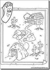 Desenhos para colorir e pintar da Dora Aventureira imprimir gratis botas raposo diego free coloring pages