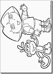 Desenhos para colorir e pintar da Dora a Aventureira botas raposo mapa mochila impimir gratis coloring pages free
