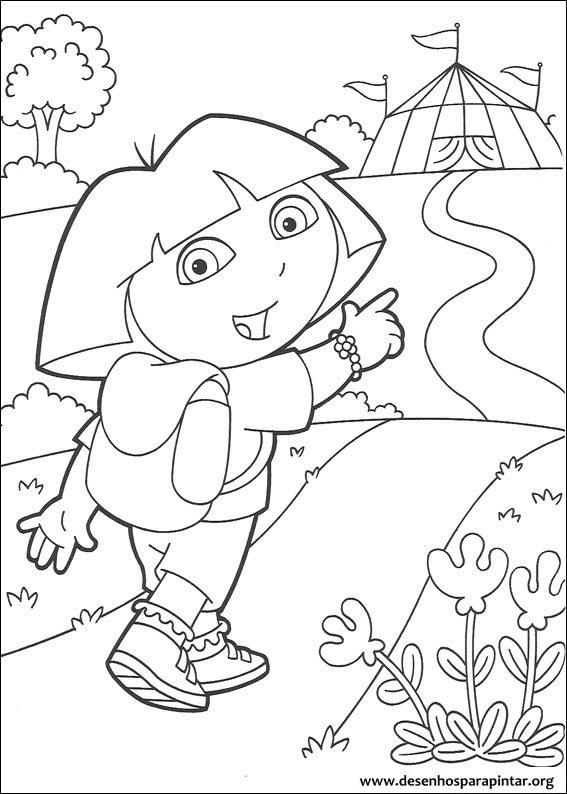 Dora A Aventureira Desenhos Para Colorir Pintar E Imprimir
