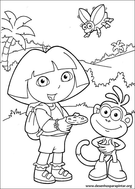 Dora A Aventureira Desenhos Para Colorir Pintar E Imprimir Gratis