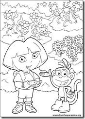 Dora a Aventureira desenhos para colorir pintar e imprimir gratis raposo botas diego colorig pages free