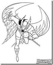 Desenhos pra colorir da Liga da Justiça aquaman  super amigos hawkman_coloring-712841