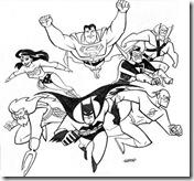 Desenhos pra colorir da Liga da Justiça aquaman  super amigos lanterna verde