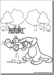 Desenhos gratis para pintar e colorir imprimir do Looney Tunes coloring pages Pernalonga  frajola silvester