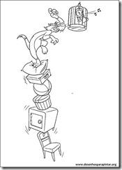 Desenhos gratis para pintar e colorir imprimir do Looney Tunes coloring pages Pernalonga  frajola e piupiu