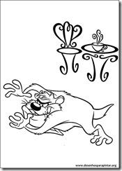Desenhos gratis para pintar e colorir imprimir do Looney Tunes coloring pages Pernalonga  taz demonio tazmania