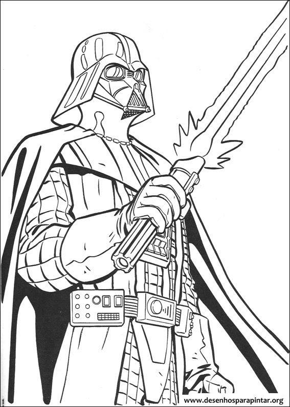 Desenhos Para Pintar E Colorir Do Star Wars Guerra Nas Estrelas