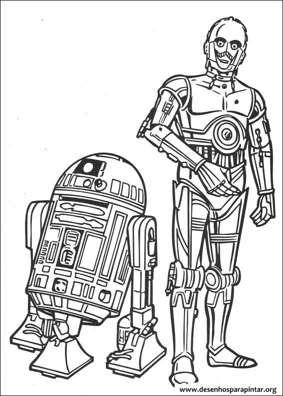 Desenhos para pintar e colorir do Star Wars – Guerra nas Estrelas ...