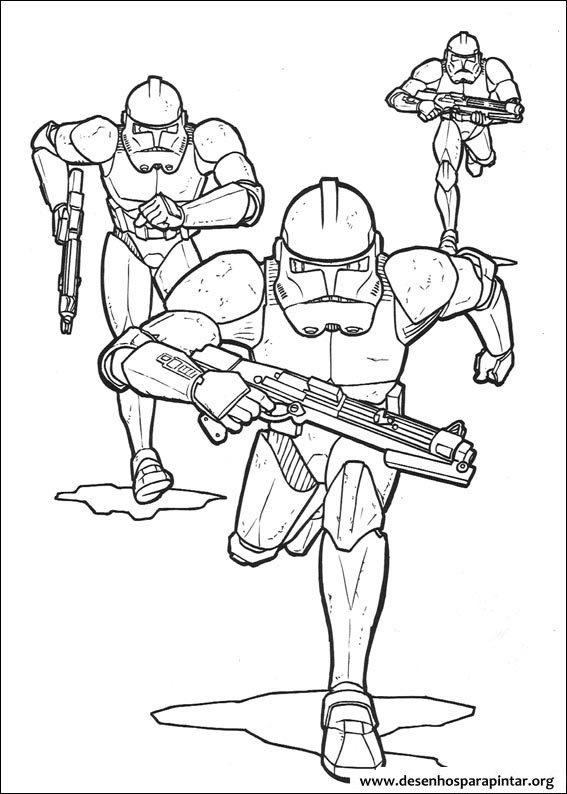Star Wars desenhos para pintar