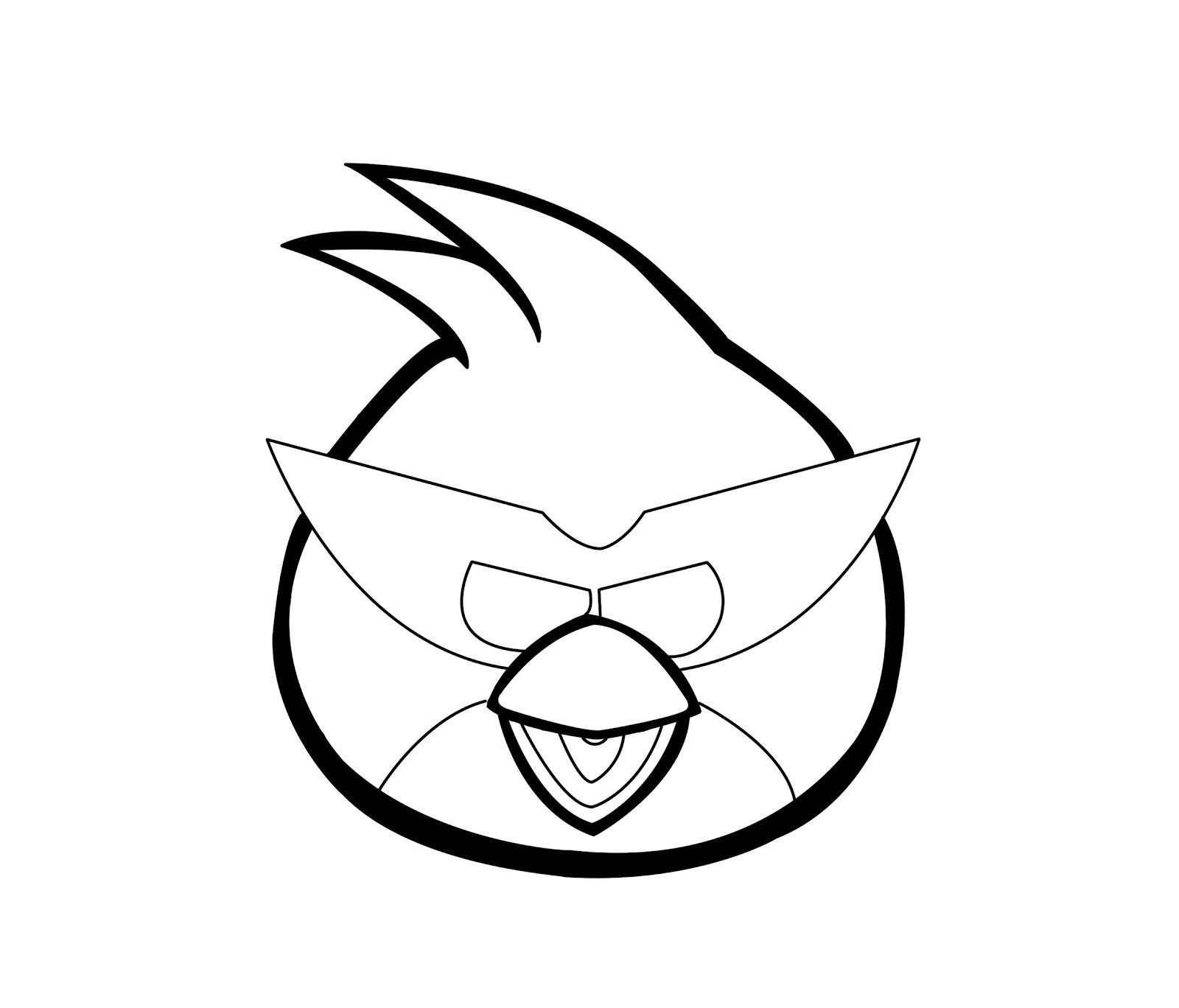 Angry Birds E Red Bird Coloring Pages | Coloring Pages