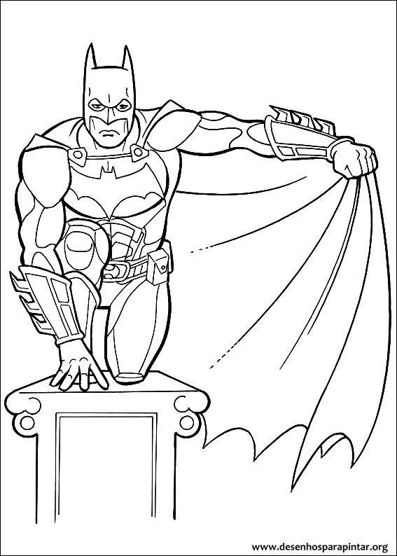 Batman Desenhos Para Colorir E Pintar Do Homem Morcego