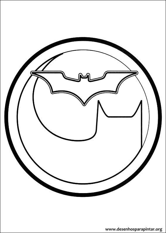 Batman desenhos para colorir e pintar do homem morcego for Batman logo coloring pages