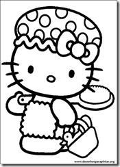 Desenhos para pintar e colorir da Hello Kitty