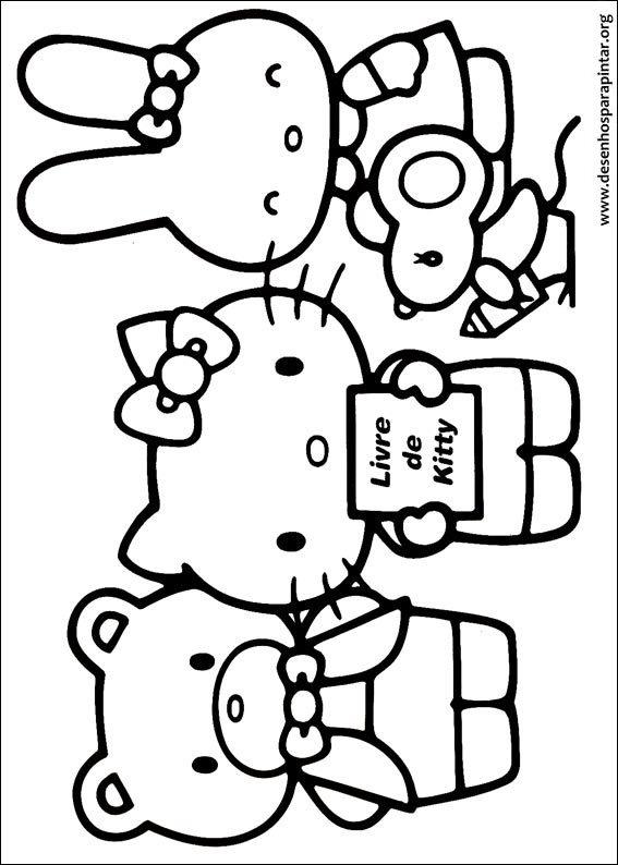 Desenhos Para Pintar E Colorir Da Hello Kitty Desenhos Para