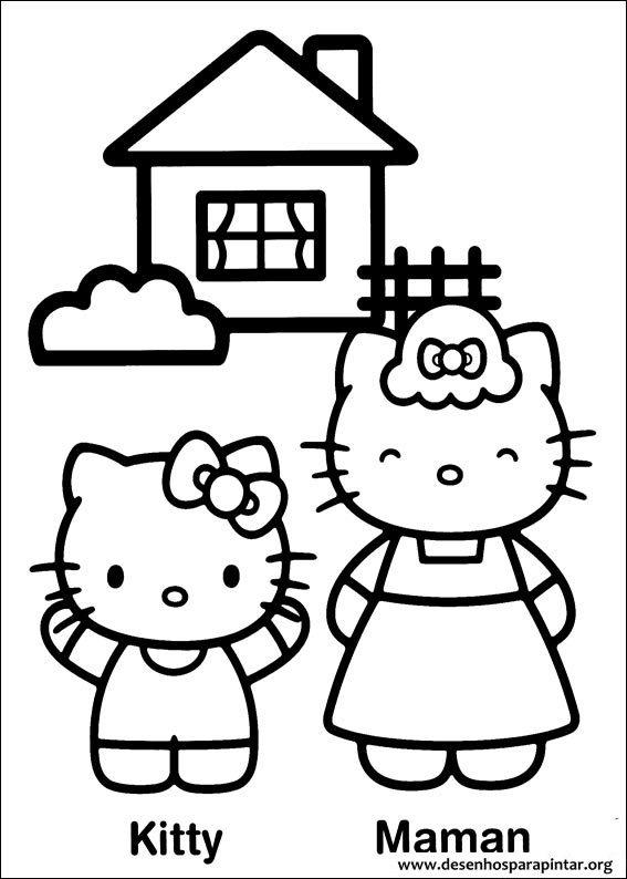 Desenhos Para Pintar E Colorir Da Hello Kitty Desenhos