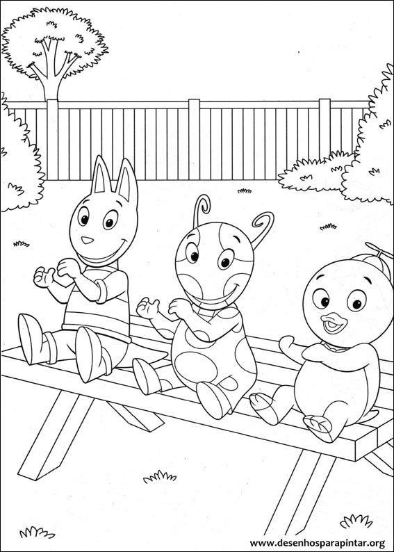 backyardgans desenhos para colorir pintar imprimir dos da tasha