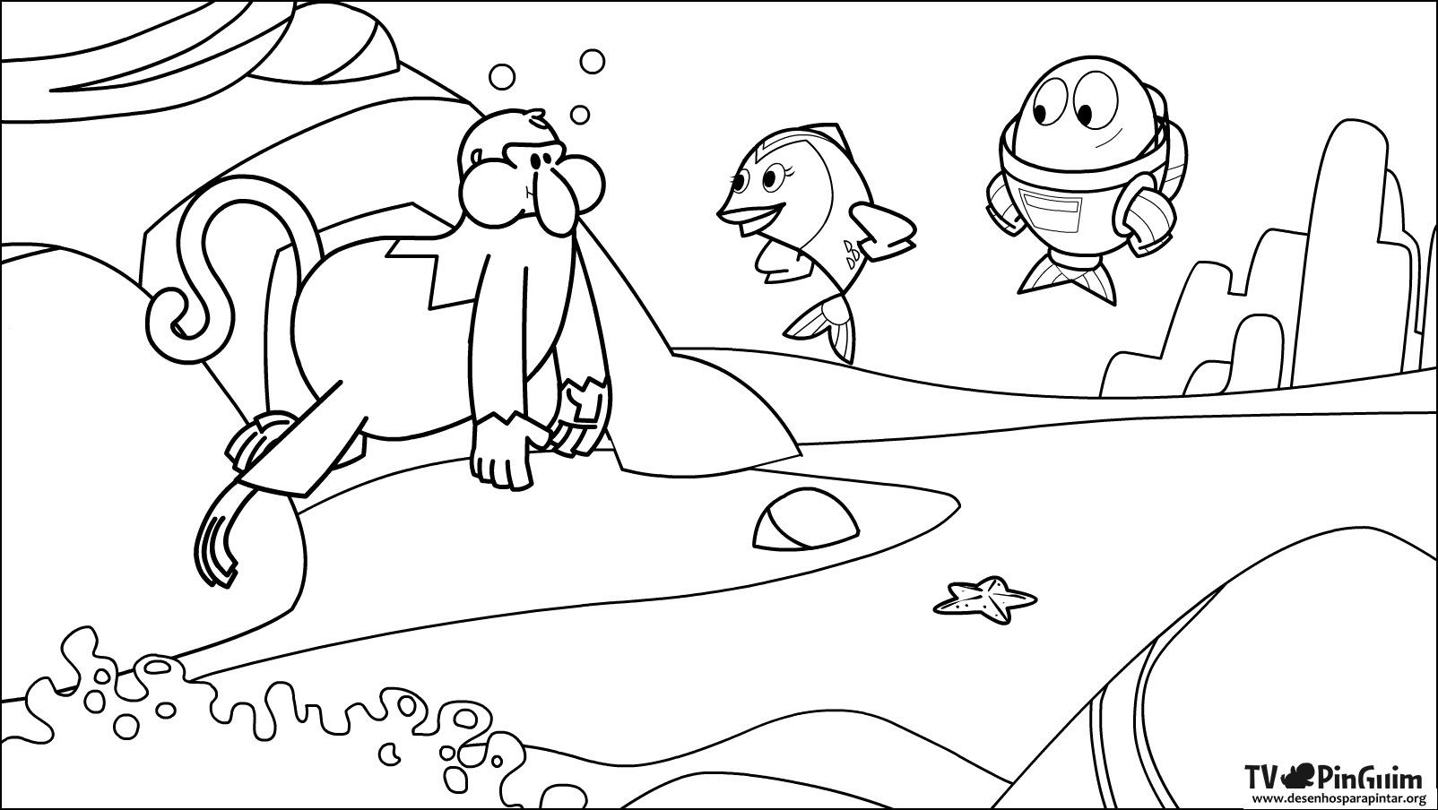 25 Desenhos Do Angry Birds Para Colorir Em Casa: Peixonauta Desenhos Para Colorir Pintar E Imprimir Do