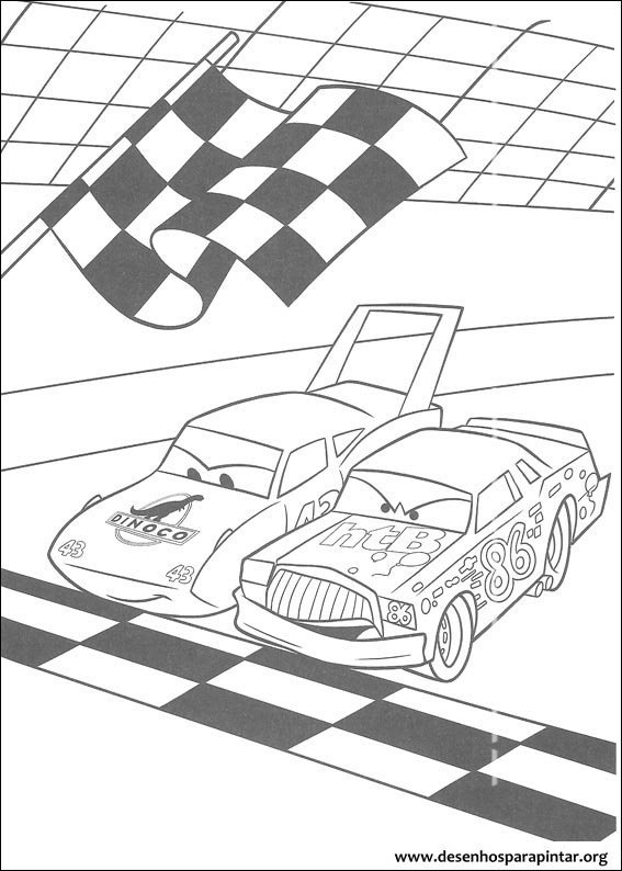 Carros Disney Pixar desenhos para imprimir colorir e pintar do Rel mpago Mcqueen Mate etc