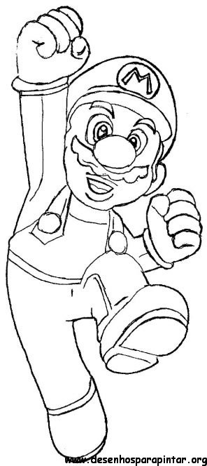 Super Mario Bros Desenhos Para Imprimir Colorir E Pintar