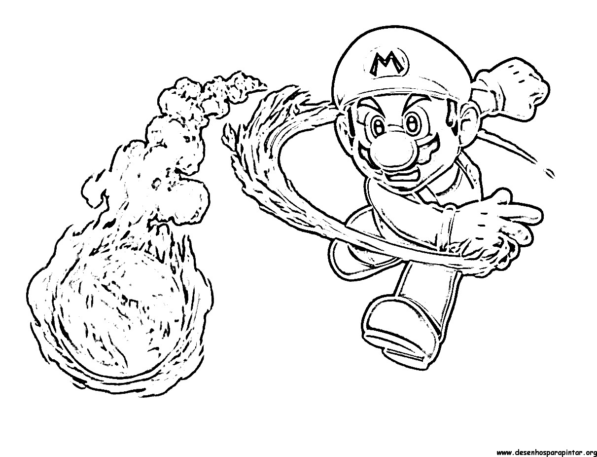 Super Mario Bros Desenhos Para Imprimir Colorir E Pintar Do Mario