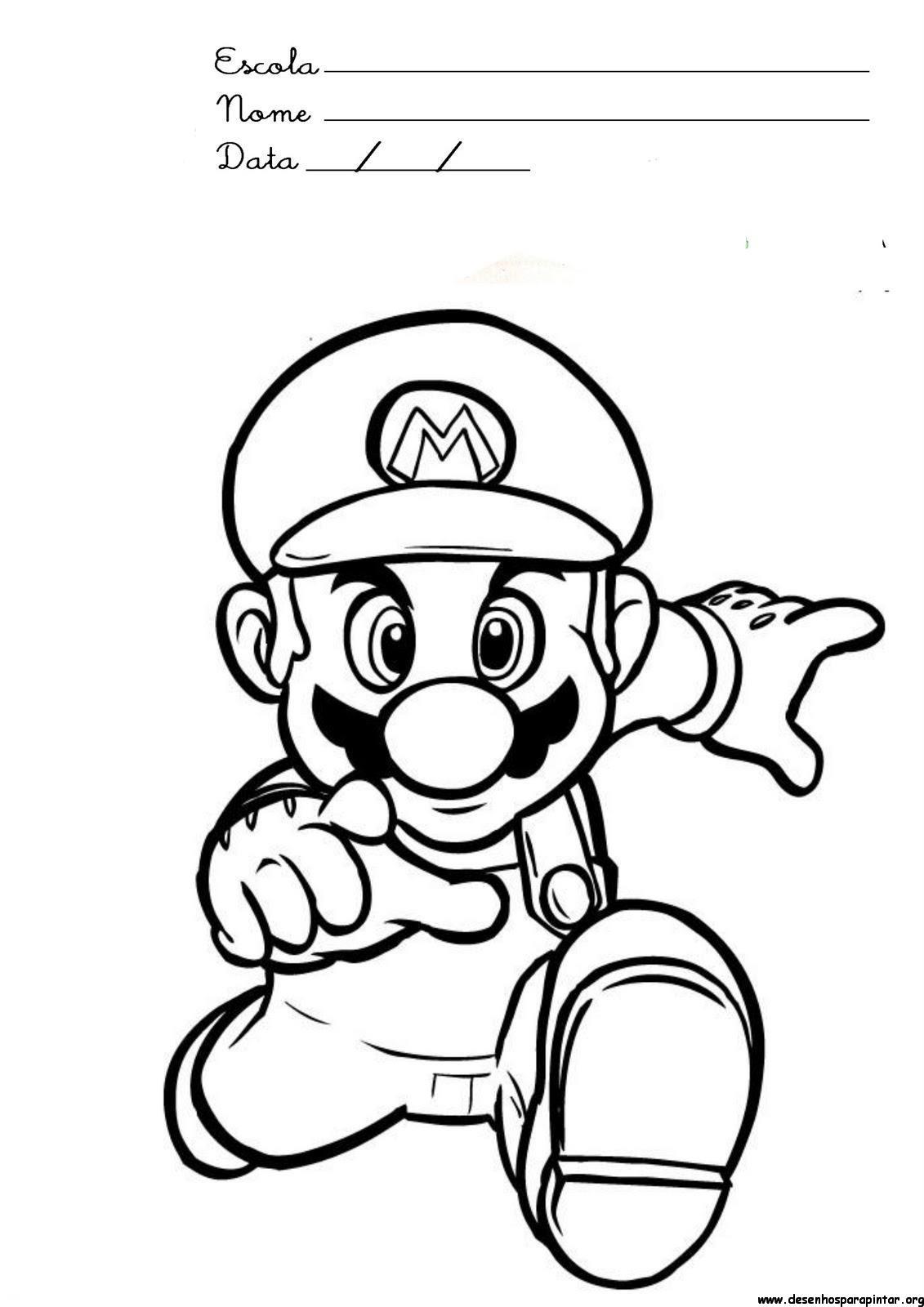 Lujo Mario Y Luigi Para Colorear Imprimibles Imagen - Enmarcado Para ...