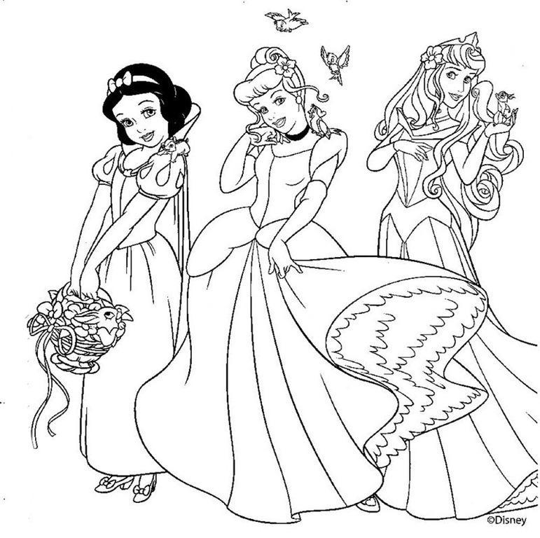 Princesas Da Disney Desenhos Para Colorir Imprimir E Pintar