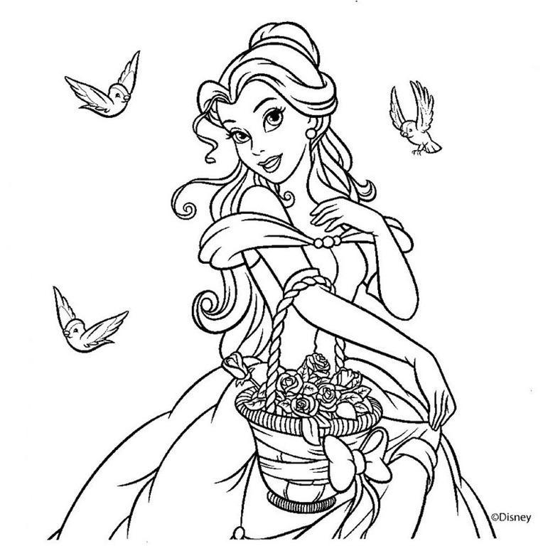 12 princesas para colorear: