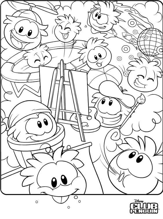 Club penguin desenhos para imprimir pintar e colorir for Caillou na piscina