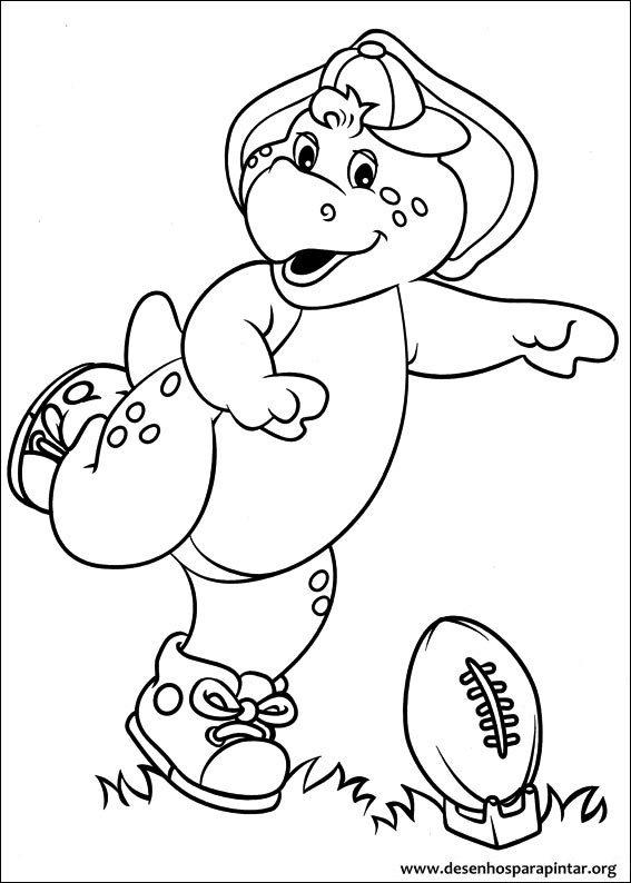 Barney E Seus Amigos Desenhos Para Imprimir Pintar E