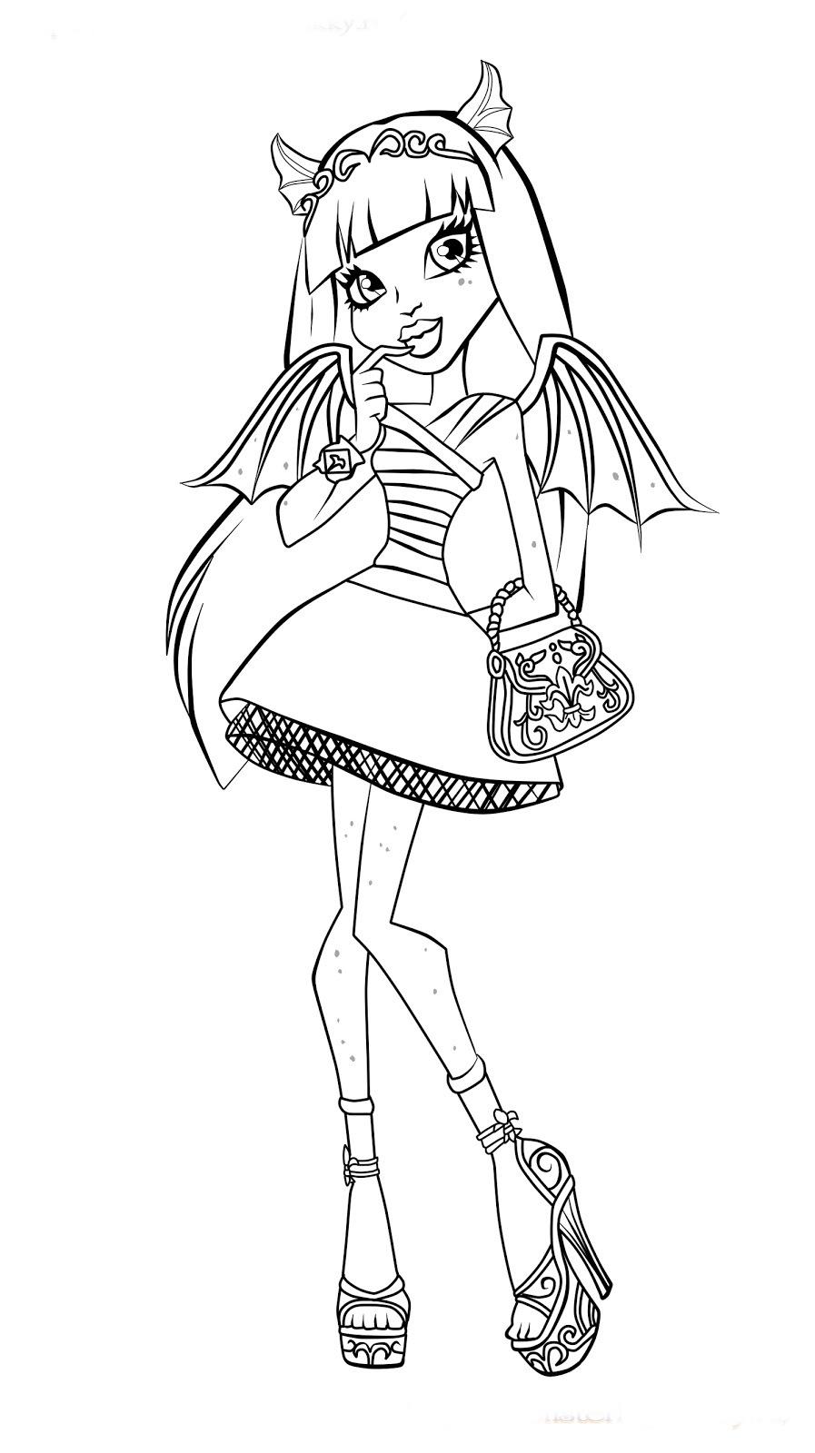 Monster High Desenhos Para Imprimir Colorir E Pintar Desenhos