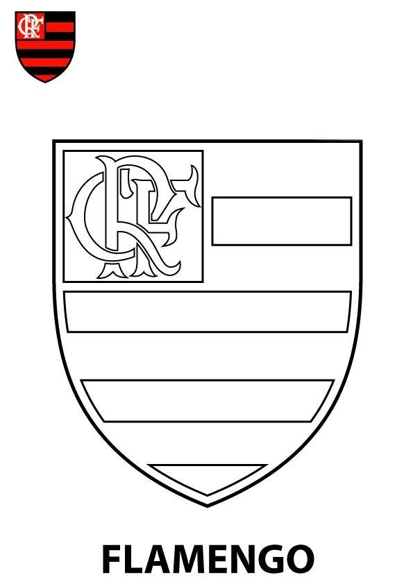 Escudo Do Flamengo Desenho Para Imprimir Colorir E Pintar Do