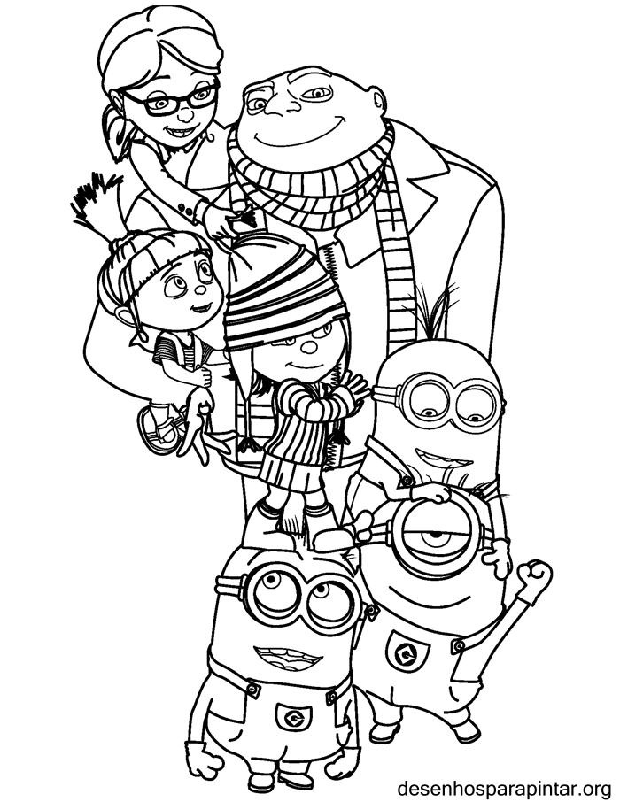 Meu Malvado Favorito E Os Minions Desenhos Para Imprimir Colorir
