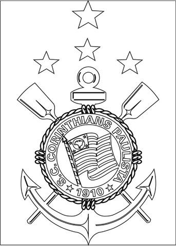 Sport Club Corinthians Paulista Desenho Para Imprimir Colorir E